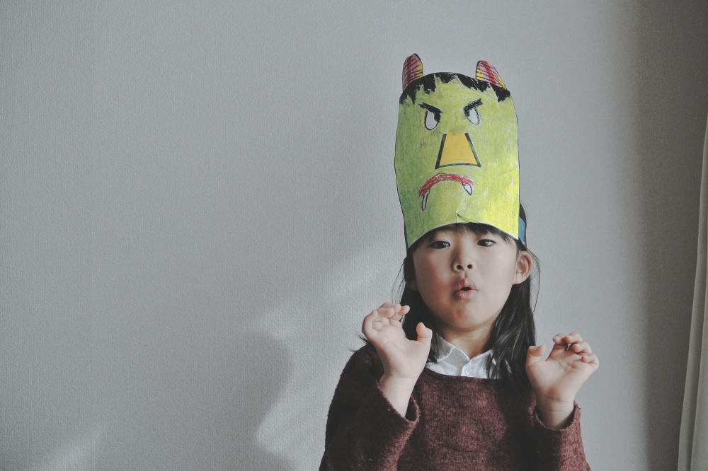 Elementary school setsubun mask