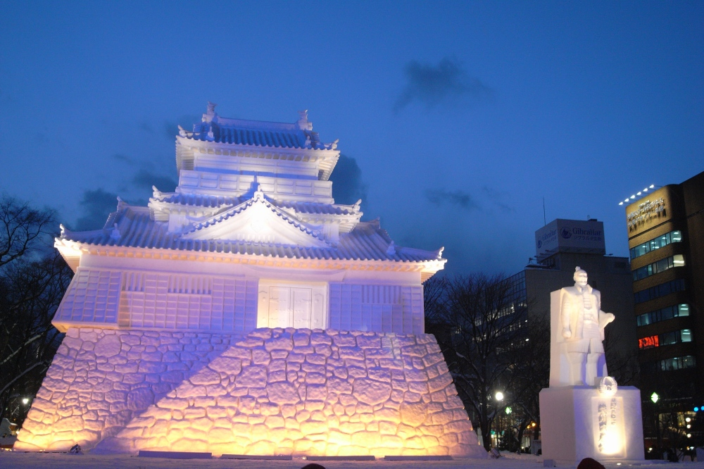 Beautiful snow sculptures at the Sapporo Snow Festival