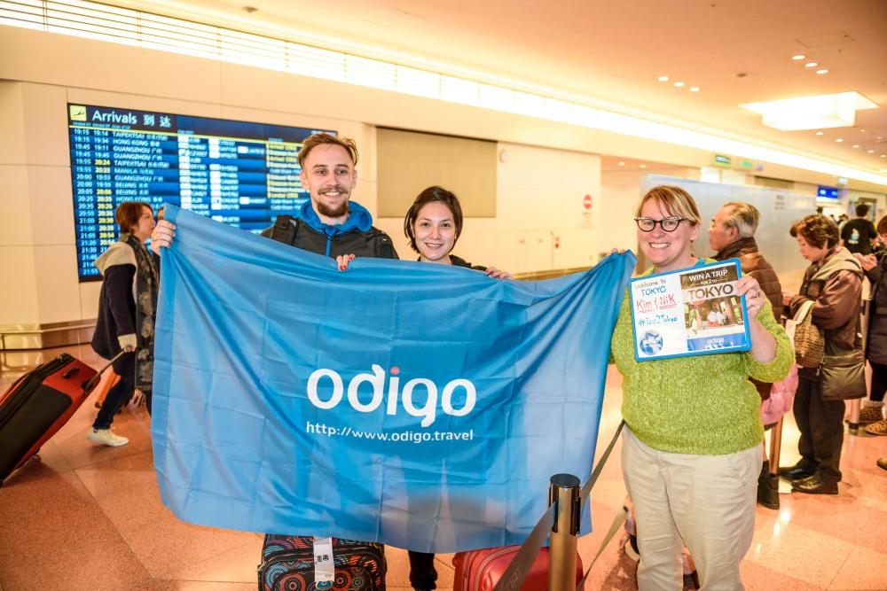 #trip2tokyo winners arrive at Haneda Airport